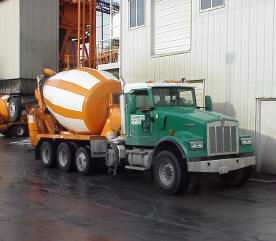 Typical truck mixer.