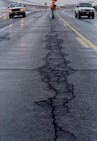 Fatigue cracks caused by stripping.