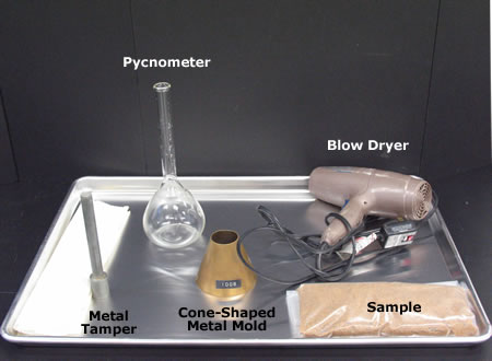 Major equipment used in performing the FASG test