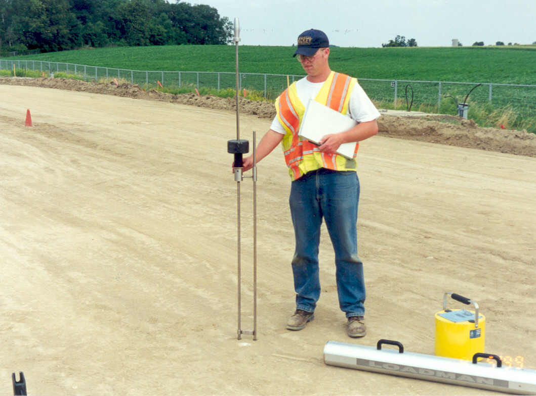 Soil testing using the dynamic cone penetration