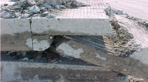 Construction joint failure