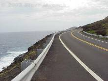 A two-lane highway in Hawaii