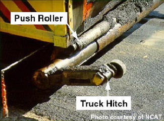 Push roller and truck hitch.