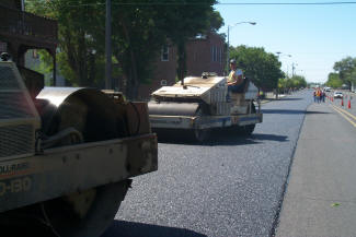A thin asphalt overlay for pavement preservation.