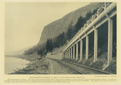 Reinforced Concrete Viaduct - Columbia river Highway