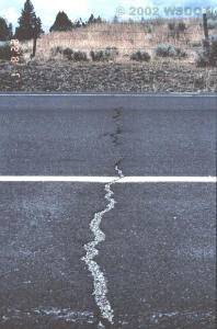 Cracks From Excessive Pavement Contraction