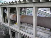 Figure 3. This photo shows a portion of the 540 ft. long wet process kiln at Lafarge Seattle.