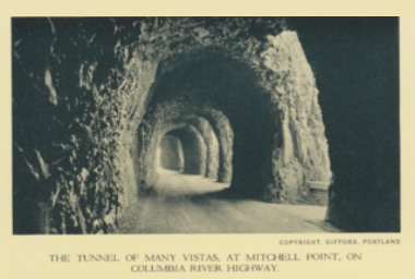 The tunnel of many vistas, at Mitchell Point, on Columbia river Highway