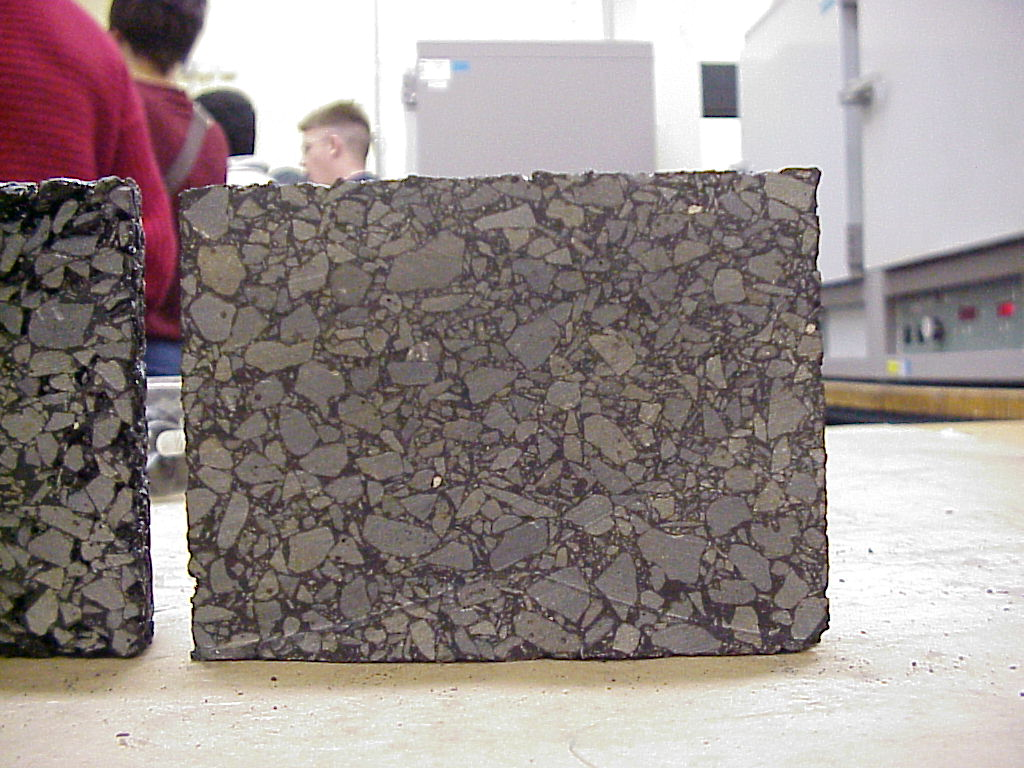 SMA Aggregate Structure. Notice the stone-on-stone contact of the larger aggregate particles