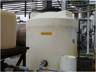 Tanks are used in manufacturing the asphalt emulsion.