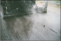 Streaking, also called cornrowing (courtesy WSDOT).