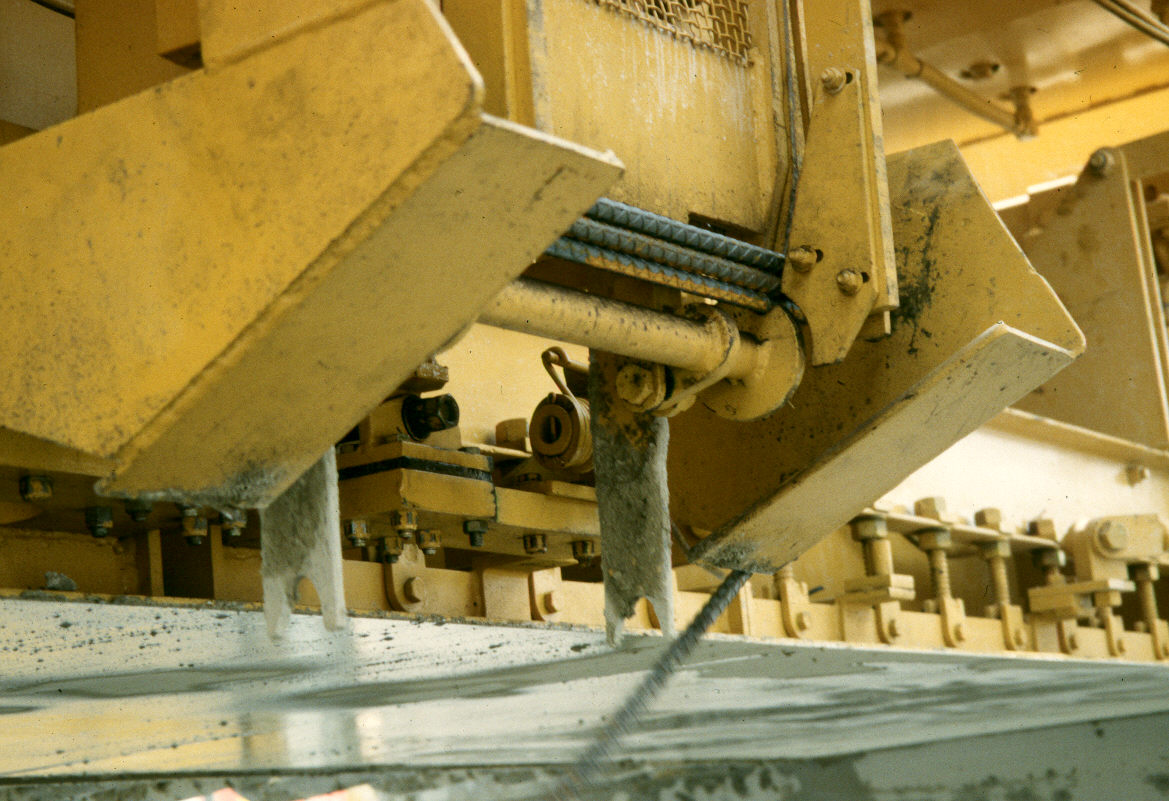 Inserter for mid-slab tie bars (the area in which the tie bars are inserted will later be cut as a longitudinal joint).