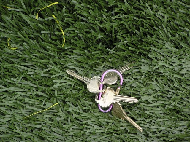 Permeable artificial turf (photo of the Marymoor playfield, with keys for scale.) This material is typically laid over a base of washed open-graded aggregate.
