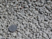 Porous concrete. Note the rough texture.