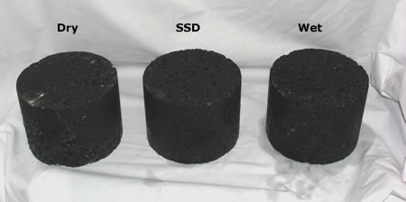 HMA samples in three conditions