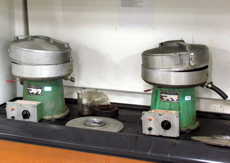 Centrifuges for use in the solvent extraction method.