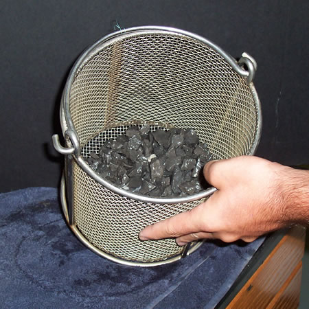 The basket used for underwater weighing