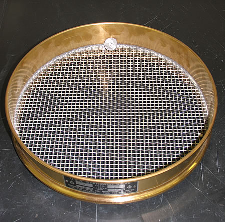 No. 4 (4.75 mm) sieve