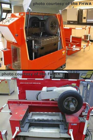 The FRT (top) and associated plate compactor (bottom)