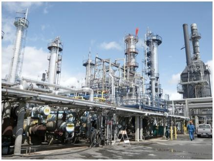 Processes such as petroleum distillation contribute to the embodied energy of asphalt