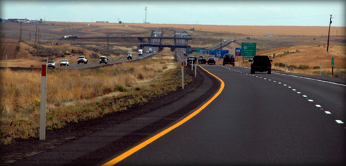 Perpetual pavement on I-90 in Washington.