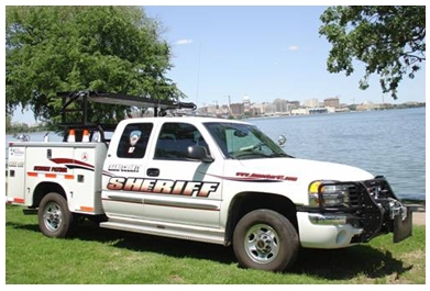 A safety and service patrol vehicle from Dane County, Wisconsin.